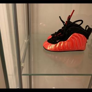 Infant foamposite sneakers size 3c
